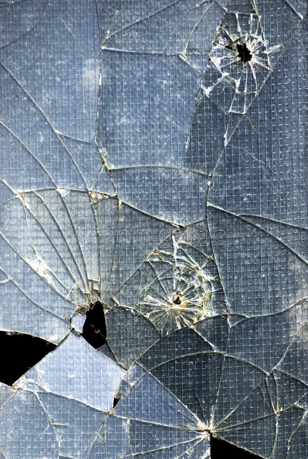 Broken glass window royalty free stock photo