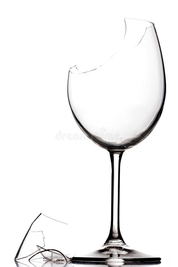 broken glass wine royaltyfria bilder