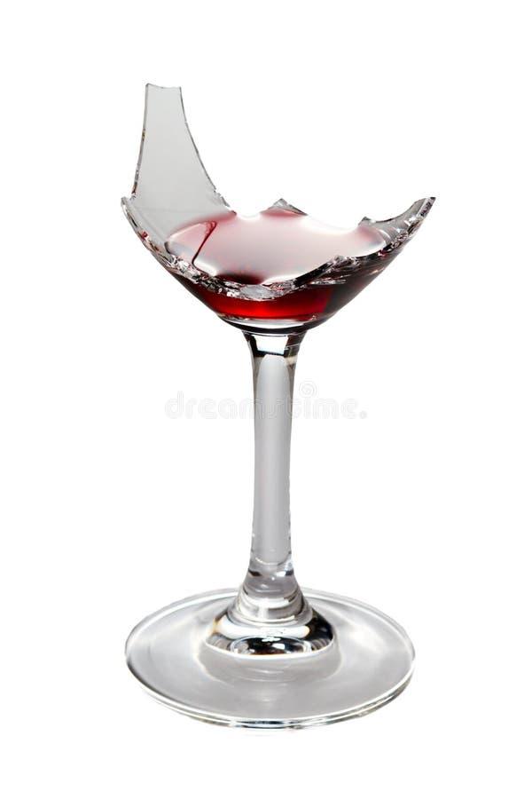 broken glass wine arkivfoto
