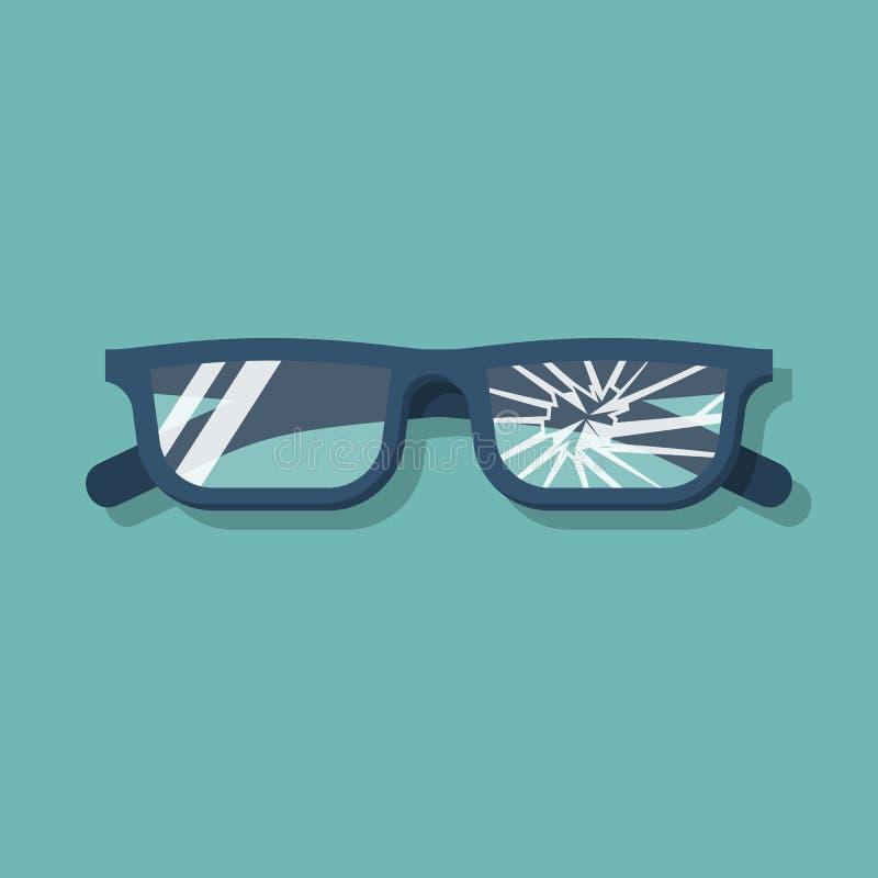 Broken glasses vector stock vector. Illustration of frame - 115038434