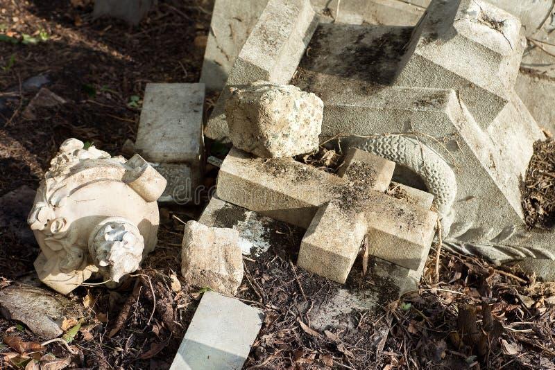 Download Broken grave stock photo. Image of destroy, devastated - 21487612