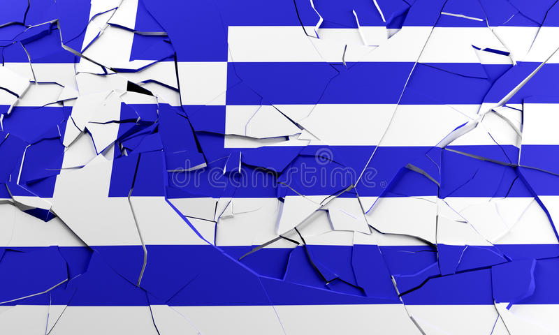 Broken Greek flag royalty free illustration