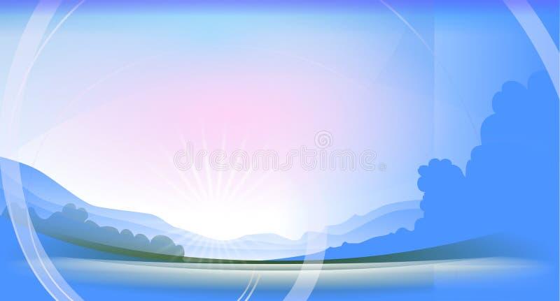 broken har morgon royaltyfri illustrationer