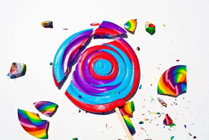 Broken Hard Candy Closeup stock images