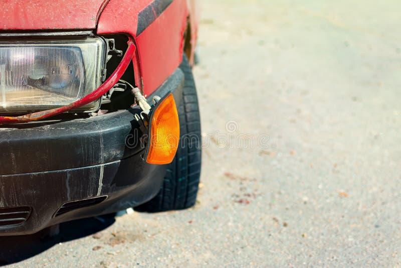 Broken headlight of the car royalty free stock photos