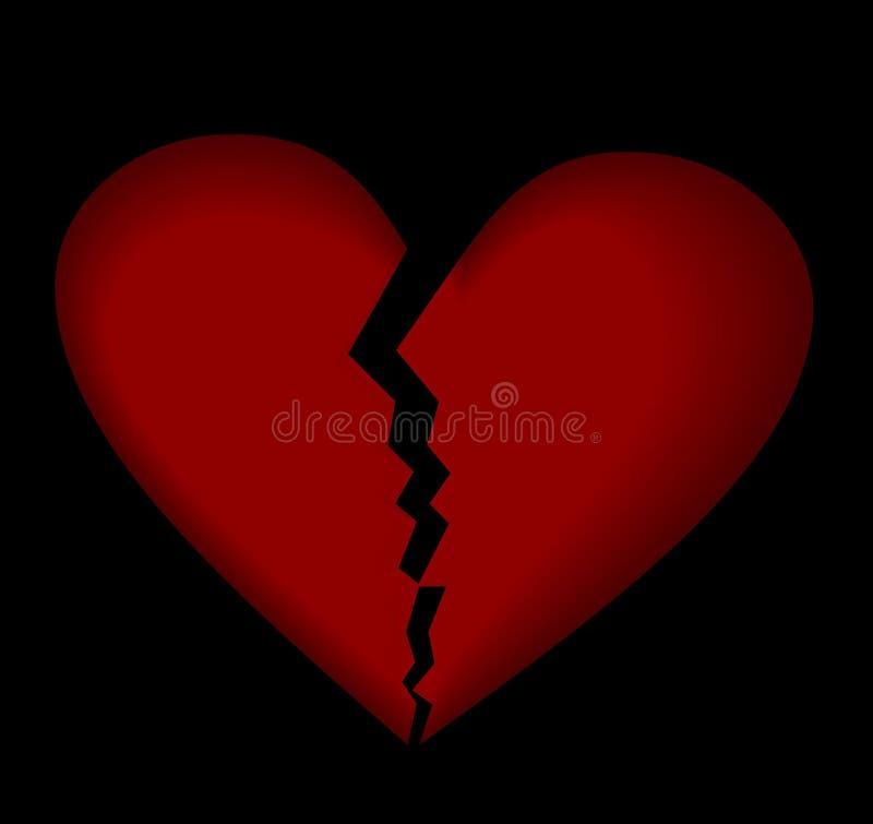 Download Broken heart stock vector. Illustration of pink, february - 12036889