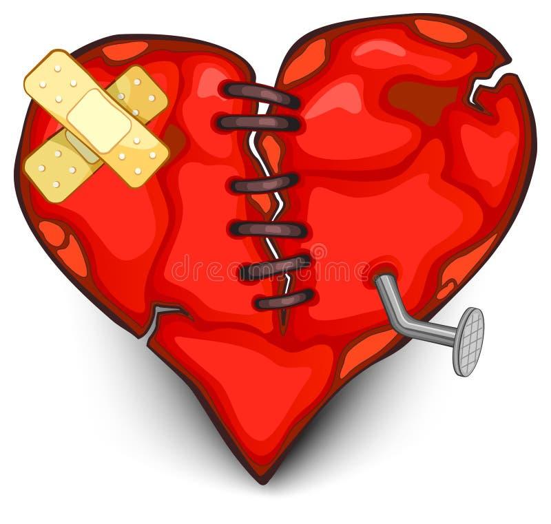 Download Broken heart stock vector. Image of thread, injured, romantic - 12581210