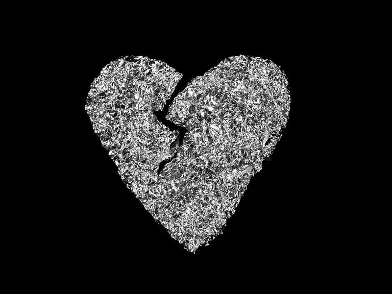 Download Broken heart stock image. Image of gold, level, cold - 12857953