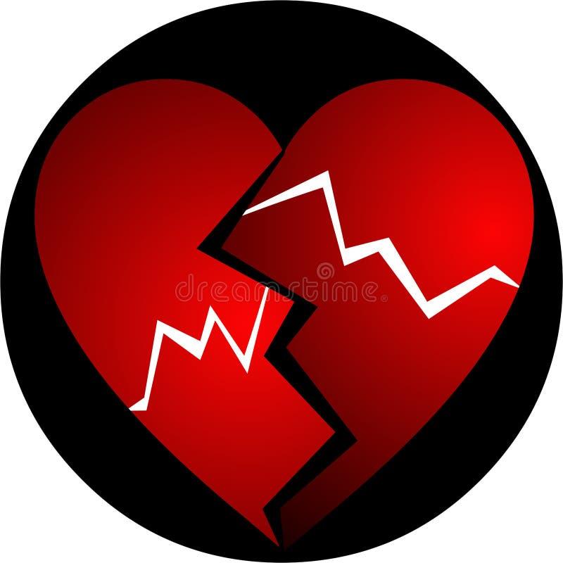 Broken heart. Illustration for a broken heart royalty free illustration