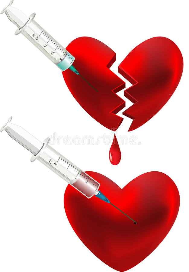 Download Broken heart. stock vector. Image of heart, hurt, isolated - 15241186