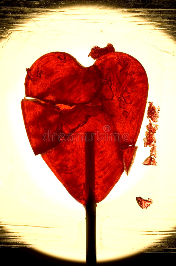Broken heart royalty free stock image