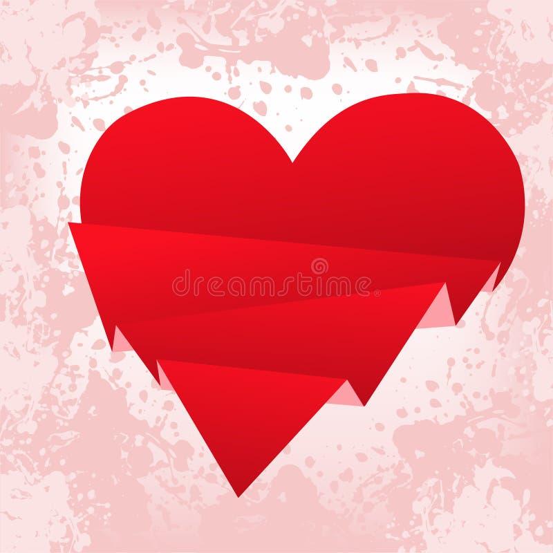 Download Broken heart stock vector. Illustration of obsolete, paper - 18047719