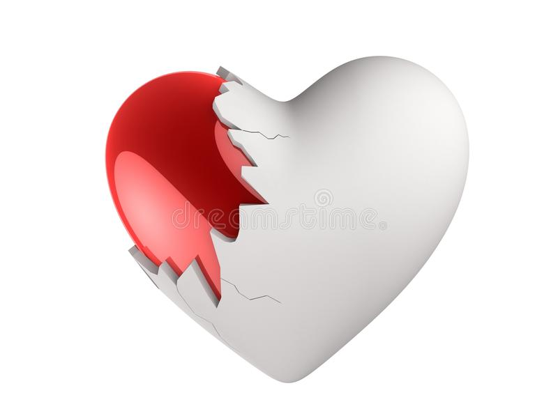Download Broken heart stock illustration. Illustration of saint - 18582825