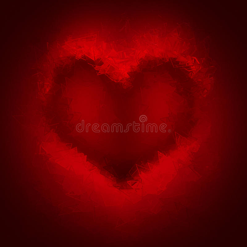 Broken heart red background royalty free illustration