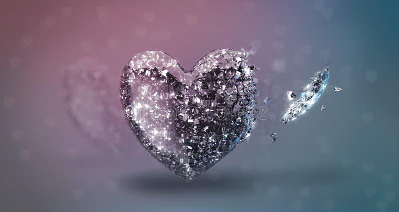 Download Broken Heart stock illustration. Image of broken, shatter - 21707217
