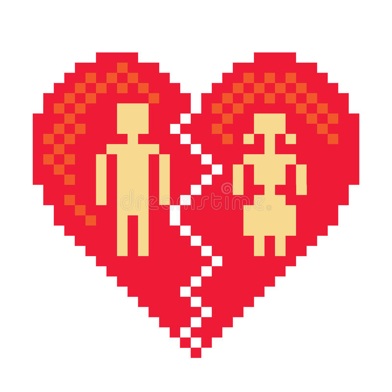 Download Broken heart stock illustration. Image of icon, lover - 22046058