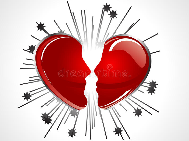 Download Broken heart stock vector. Image of wedding, love, background - 22676529