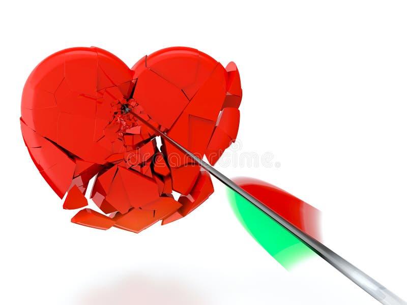 Download Broken heart stock illustration. Illustration of crushed - 24640448