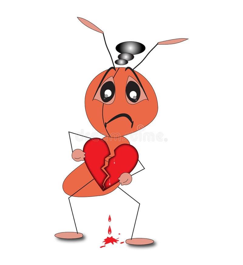 Download Broken Heart stock vector. Image of cartoon, relationship - 24856660
