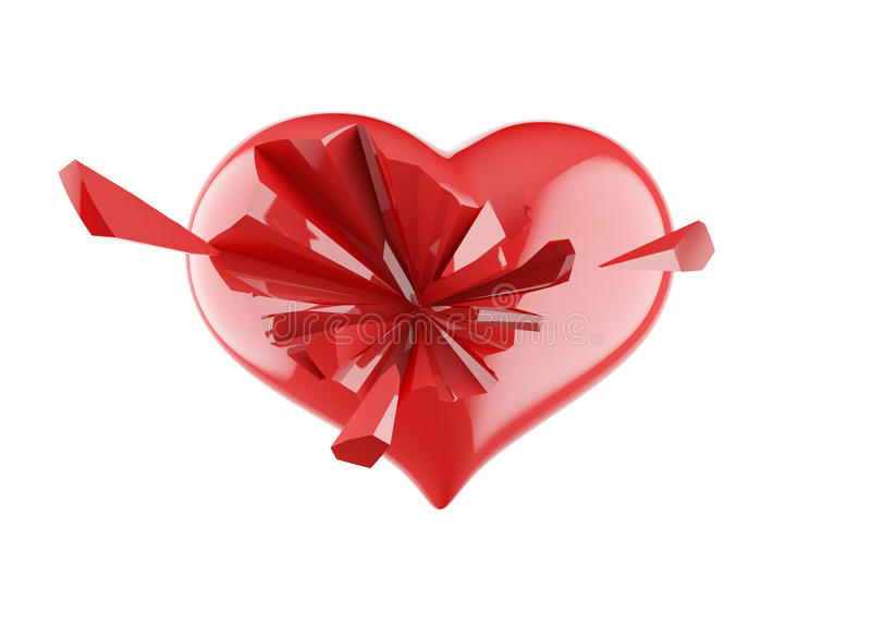 Download Broken heart stock illustration. Image of break, discourage - 28265890