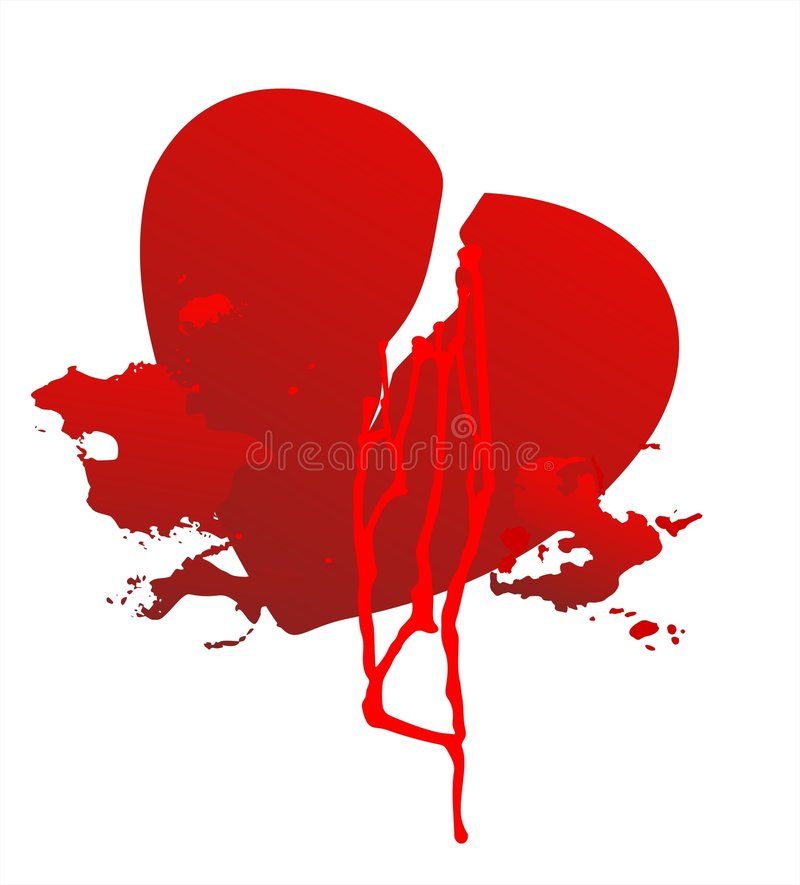 Download Broken heart stock vector. Image of conceptual, illustration - 4020850