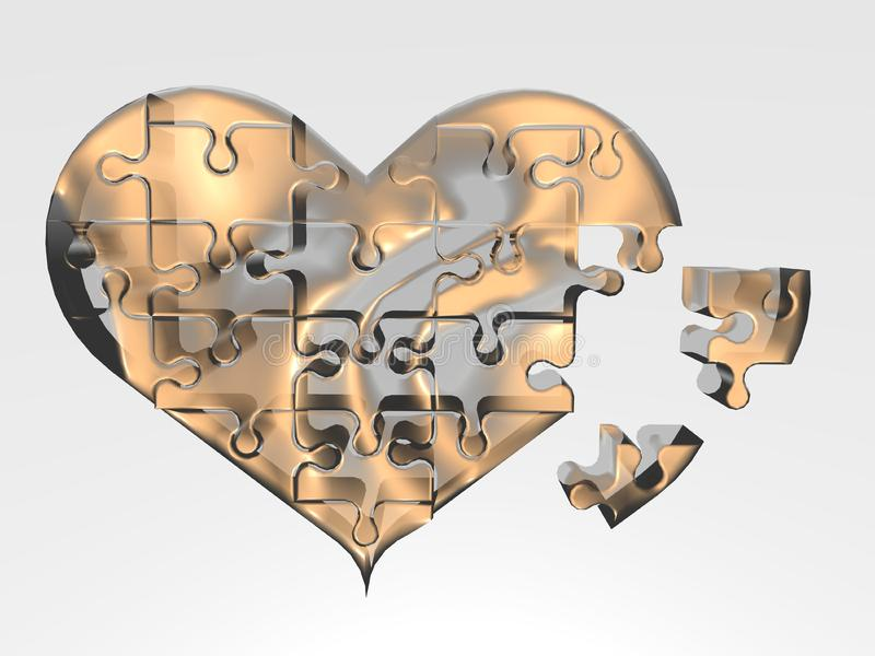 The broken heart stock photography
