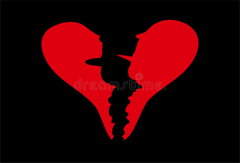 Broken Heart stock illustration