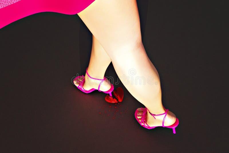 Download Broken heart stock illustration. Image of ankle, glamour - 6304105