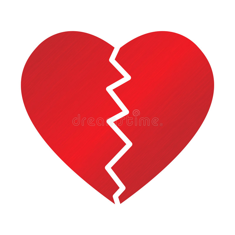 Broken heart royalty free illustration
