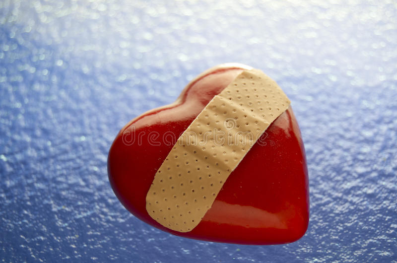 Download Broken Heart Bandaged stock photo. Image of bleeding - 24424346