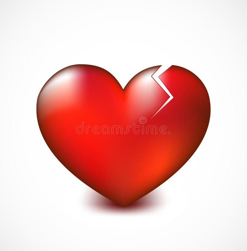 broken heart with crack vector background stock vector rh dreamstime com Valentine's Day Cards for Friends Valentine's Day Tumblr Drawing