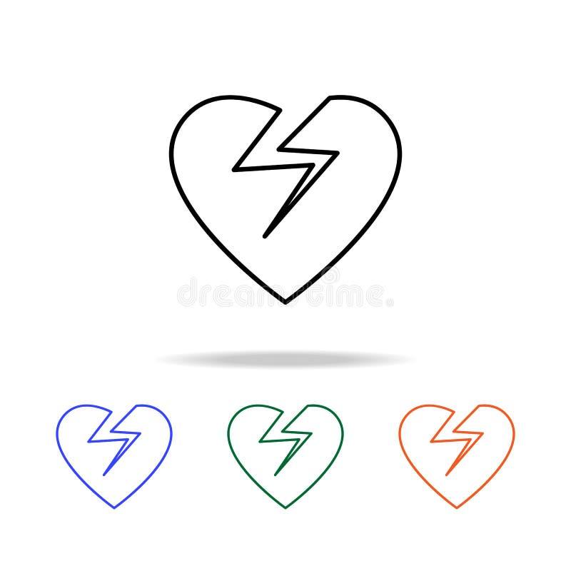 Broken heart icon. Elements of simple web icon in multi color. Premium quality graphic design icon. Simple icon for websites, web. Design, mobile app, info vector illustration