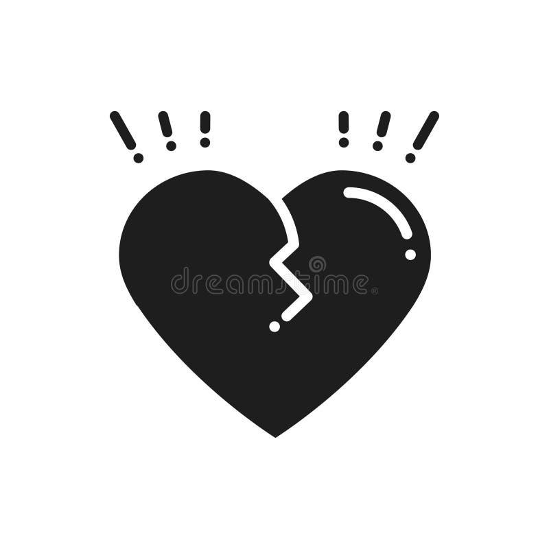 Broken Heart Line Icon Sign And Symbol Love End Relationship Lie