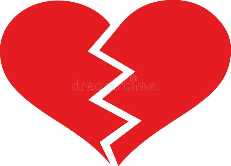 Broken heart love royalty free illustration