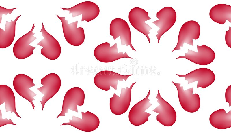 Download Broken Heart Seamless Tile Pattern Background 7 Stock Illustration - Image: 6161934