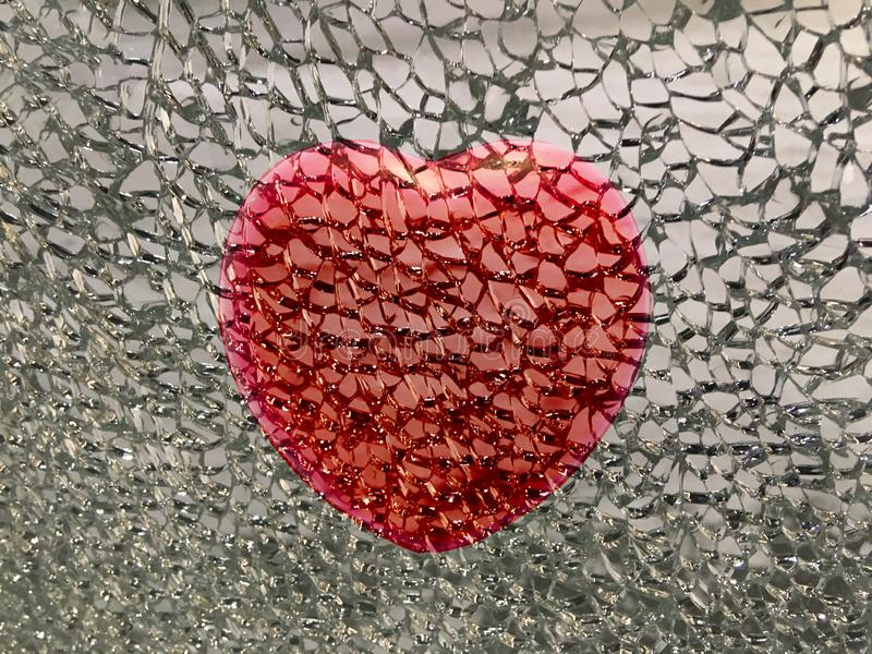 Broken red heart background royalty free stock photography