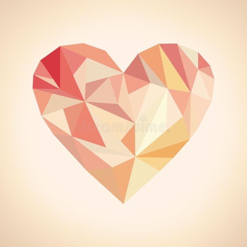 Broken heart of triangles stock photo