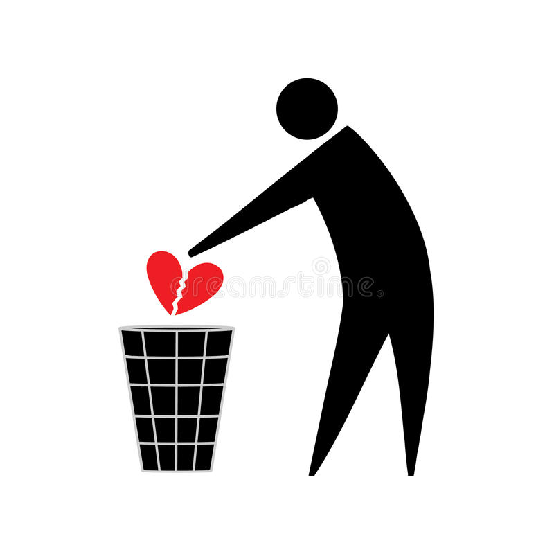 Broken Heart Unrequited Love Stock Illustration Illustration Of