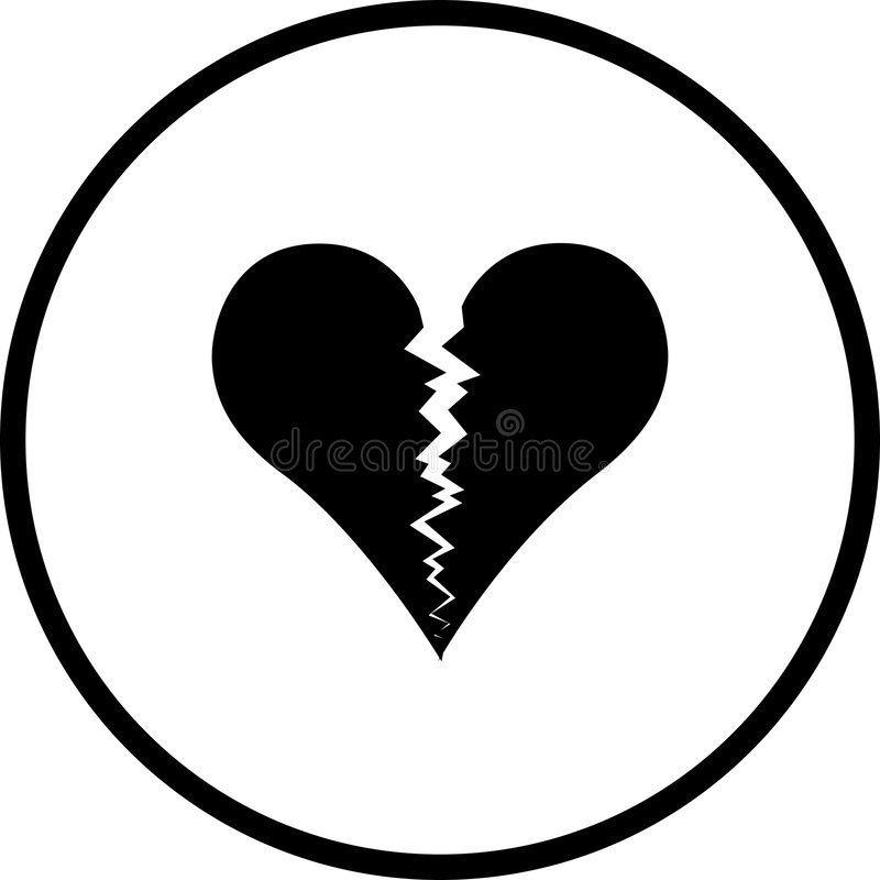 Broken Heart Vector Symbol Stock Vector Illustration Of Icon 5078683