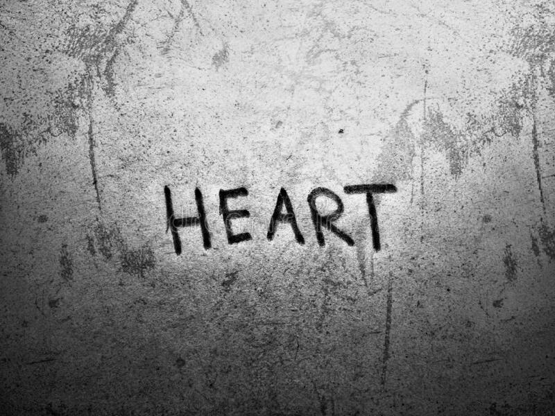 Broken heart wallpaper word art on the rough background stock photography