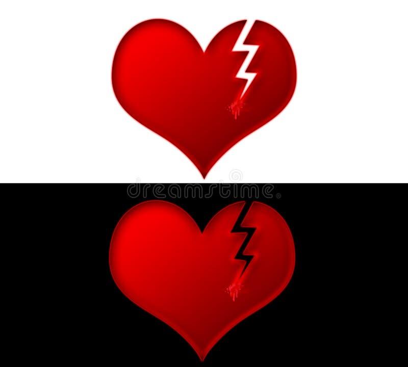 Broken Hearts royalty free illustration