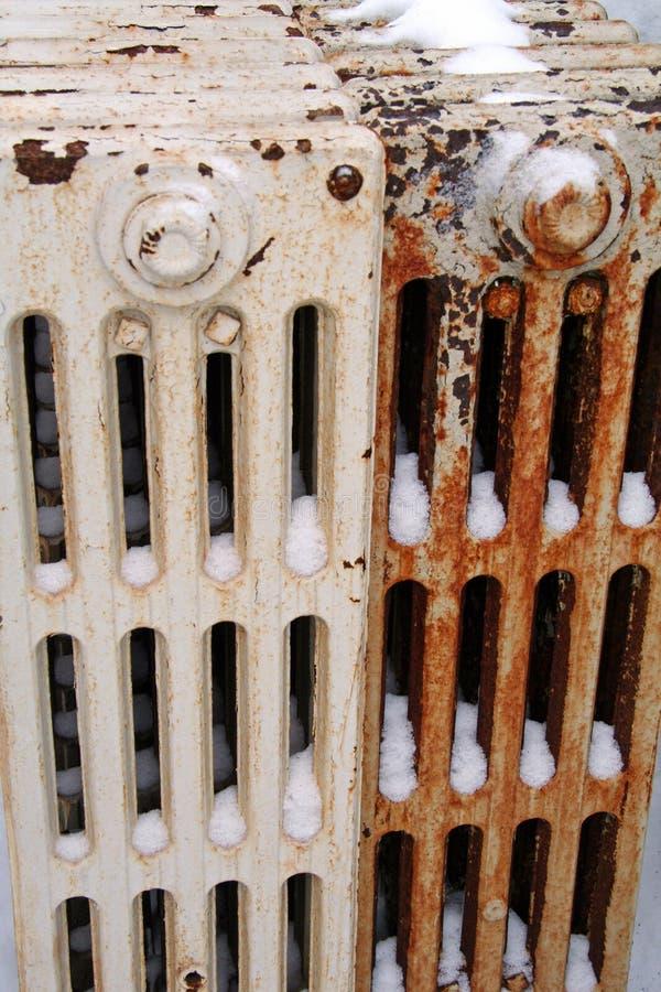 Download Broken Heat System stock image. Image of bills, rust, snow - 1422391
