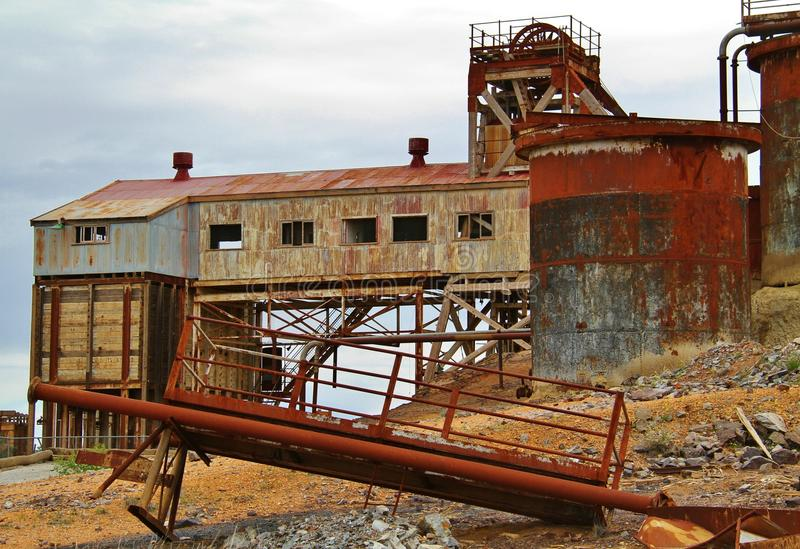 Broken Hill, New South Wales, Australia. Remnants of the old mining town of broken Hill, the birth place of mining giant BHP stock images