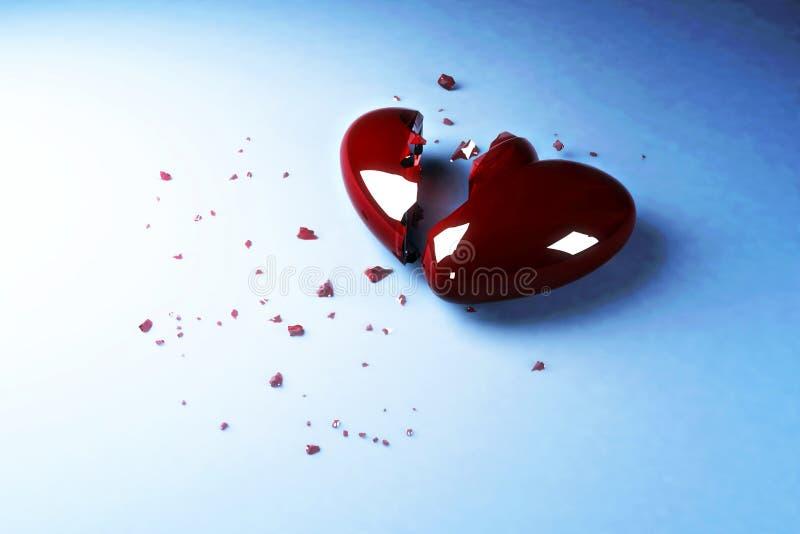 broken hjärta vektor illustrationer