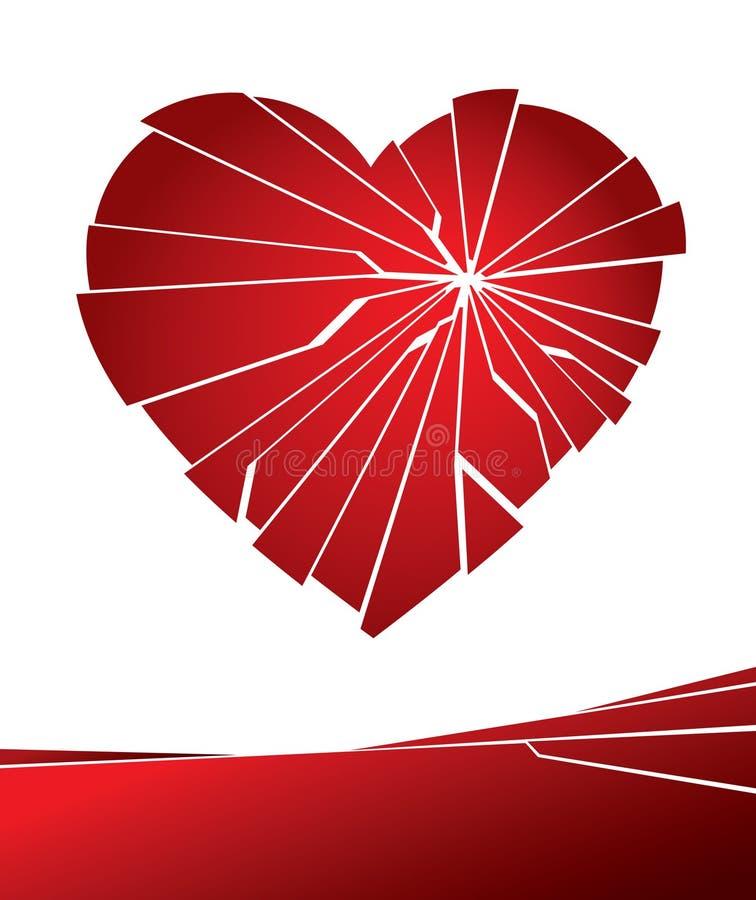 broken hjärta stock illustrationer