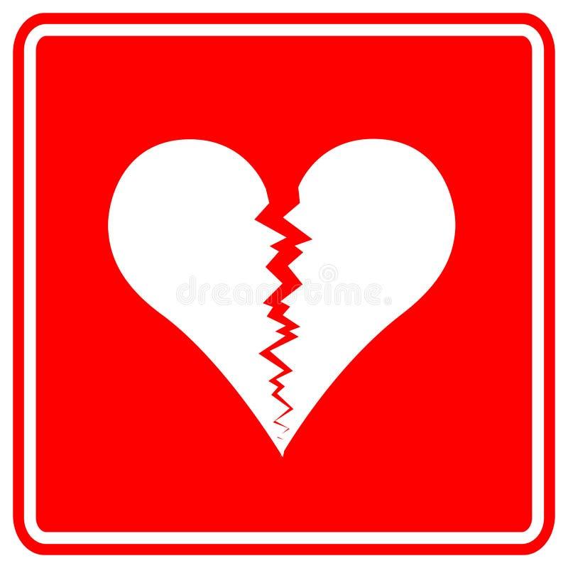 broken hjärtatecken stock illustrationer