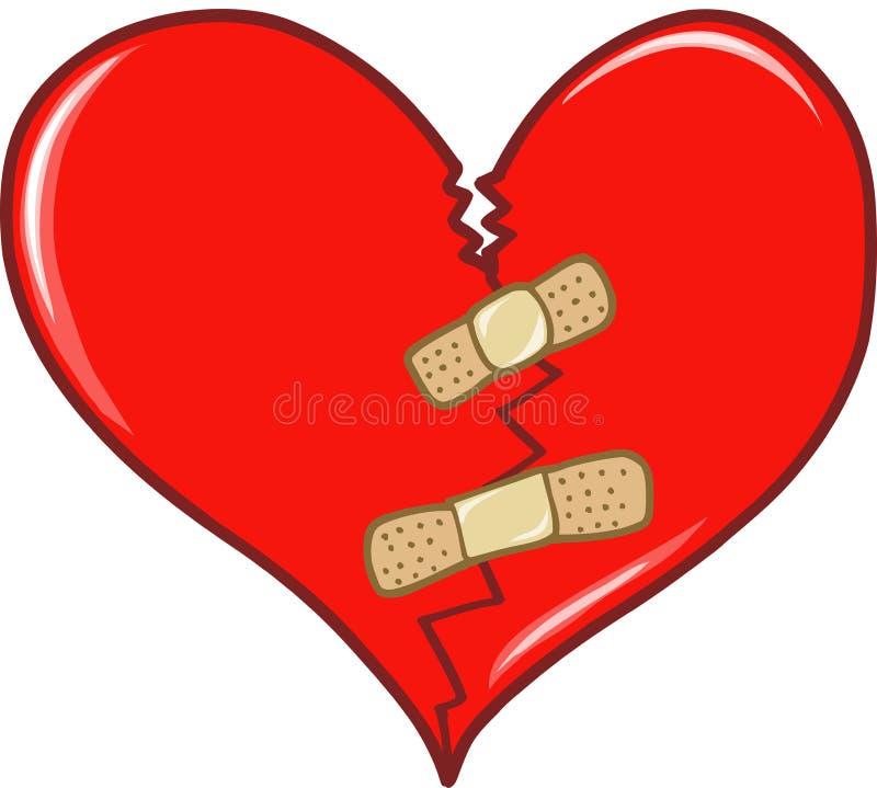broken hjärtavalentinvektor stock illustrationer