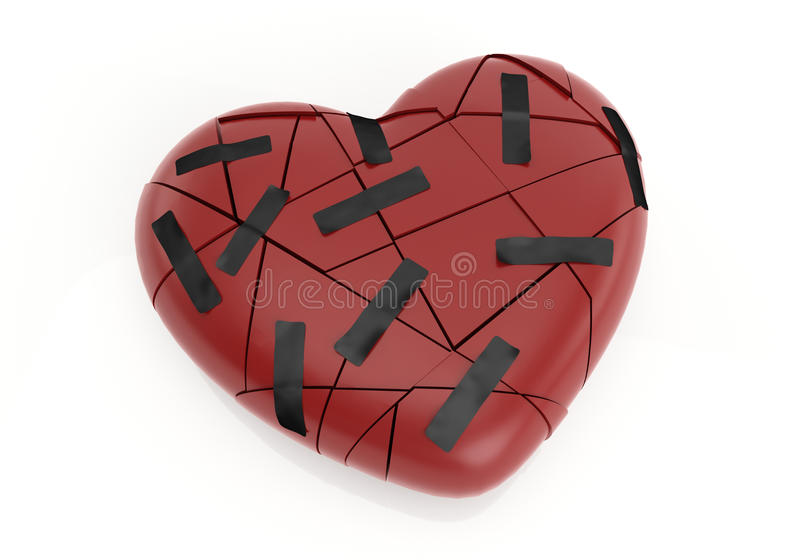 broken hjärtor arkivfoto