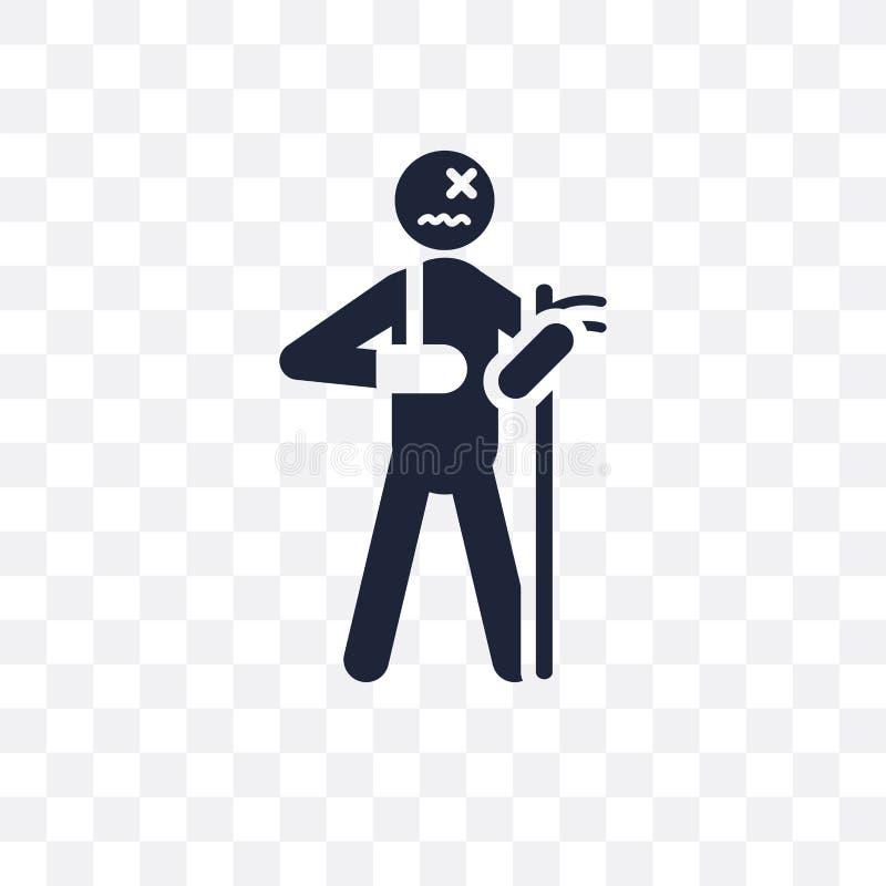 broken human transparent icon. broken human symbol design from F stock illustration