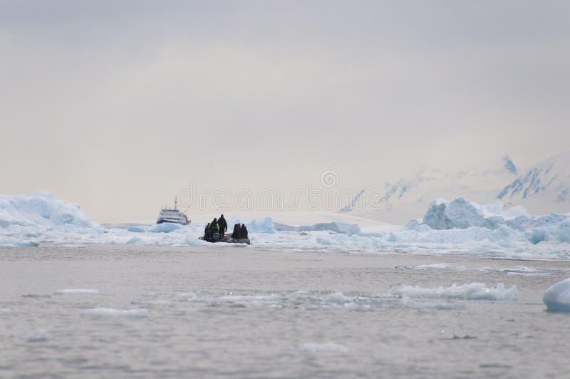 Download Broken ice and boat stock image. Image of floe, broken - 26731245